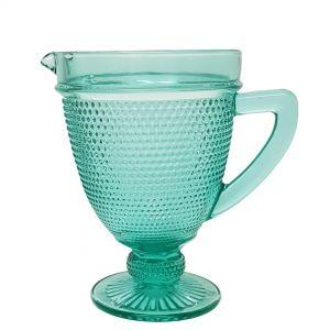 GCC213-T : Kate embossed carafe / water jug - TEAL