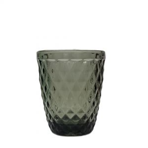 GCC214S-GY : Diana  embossed tumbler glass - GREY / BLUE