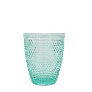 GCC214S-T : Diana  embossed tumbler glass - TEAL