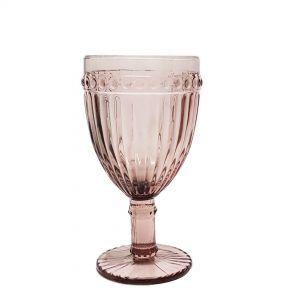 GCC229L-PU : Megan embossed wine glass - H17cm - PURPLE