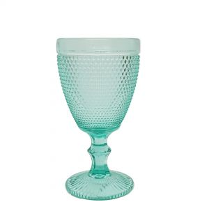GCC229L-T : Kate embossed wine glass - H17cm - TEAL