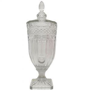 gcc25cL : Buckingham crystal glass jar - XL