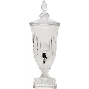gcc8806 : Persian embossed glass drink dispenser - Small  **AVAILABLE 1st JUNE**
