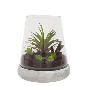 GCH155M: Mason dome shaped hurricane w/stone base - Medium