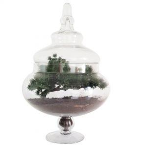 gch75 : Elsa round atrium / candy glass jar - H37cm **SOLDOUT**