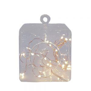 Leo square hanging glass