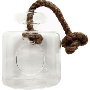 Tara atrium glass vase w/rope - L  **AVAILABLE END OCTOBER 19 **