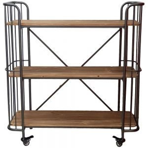 HC107 : Leo Trolley 3 tier display shelf w/wheels