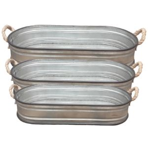 HC152 : French Industrial oval garden tray - set/3