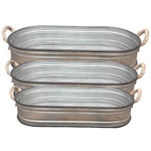 oval garden tray - set/3