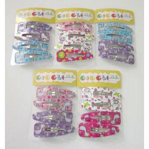 assorted carton animal hair clip set/4