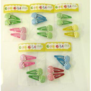 checkered apple hair clip set/4