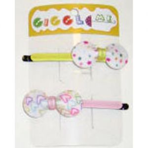 bowtie shaped hair slide set/2