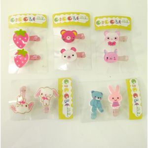 Assorted animal hair slide set/2