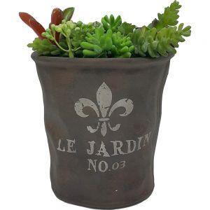 Le Jardin copper ceramic pot