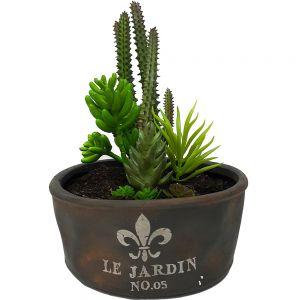 Le Jardin copper ceramic oval planter