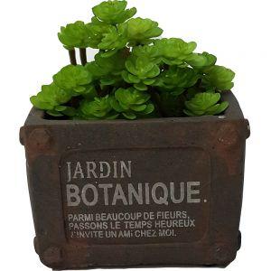 Le Jardin copper ceramic square planter - S