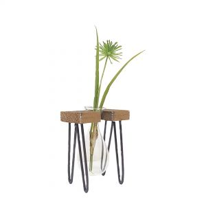 JKW204-21 : Haley propagation stand / wooden single vase
