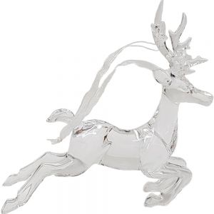 Raindeer xmas ornament - clear