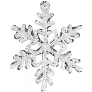 Snowflake xmas ornament - white