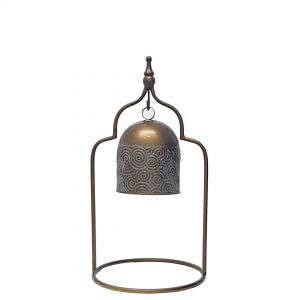 L45 : Nosh Antique Bell on Stand - SMALL