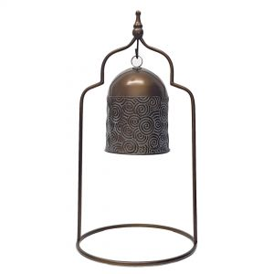 L46 : Nosh Antique Bell on Stand - LARGE