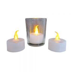 led tealight w/flickering light & blow out action