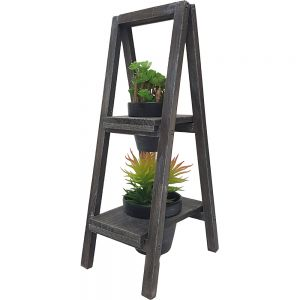 2 tier wooden A-frame standing pot plant holder - Small