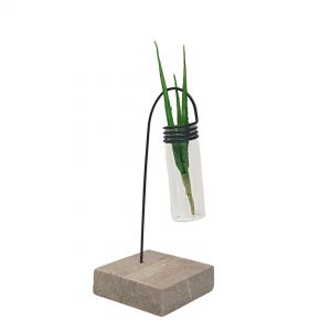 LW190-18 : Jeremy single test tube glass vase metal stand