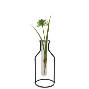 LW191-2 : Gin Bottle metal stand glass test tube vase - Small