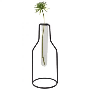LW191-3 : Wine Bottle metal stand glass test tube vase - Large