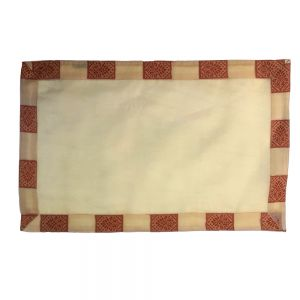 33x48cm silk organza placemat - Gold Square