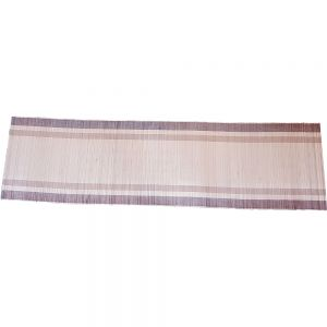 Natural striped bamboo table runner no edging (40x150cm)