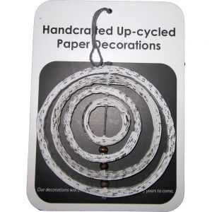 recycled paper ornaments - Black & white 3D circle