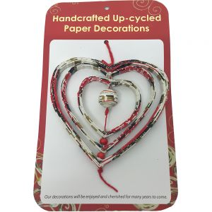 PRX8 : recycled paper ornaments - Spinner Heart