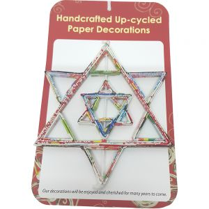recycled paper ornaments - Spinner Star