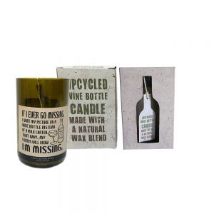 recycled wine bottle candle (lemongrass) - MISSING
