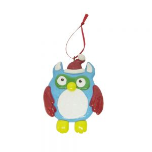 candy buffet hanging deco -blue owl