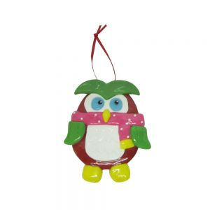 candy buffet hanging deco -pink owl
