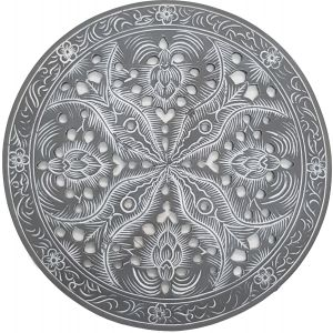 RH11-G : Resin round placemat D25cm - grey