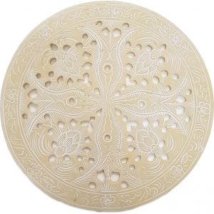 RH11-I : Resin round placemat D25cm - ivory **AVAILABLE LATE MAY 2021**