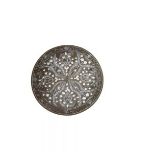 Resin round placemat D25cm - taupe