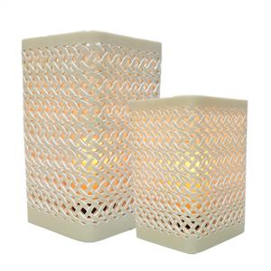 RH16-RH17-I : Square Arabesque pattern hurricane - ivory