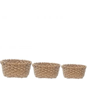 SG-LY003 : Set/3 Sven Oval Storage baskets - natural (hyacinth)
