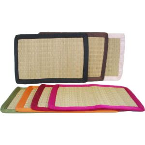 sg23sa : Seagrass rectangular placemat - w/ satin trim