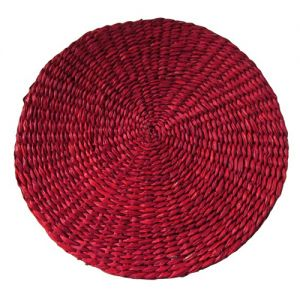 sg29/br : Seagrass Round Placemat - red