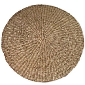 seagrass round placemat large - natural