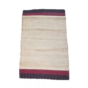 90x150cm Choc Striped Natural - Seagrass Outdoor Floormat / Rug