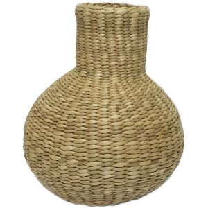 sg71 : Handwoven mini seagrass Hue bulb decor container / vase