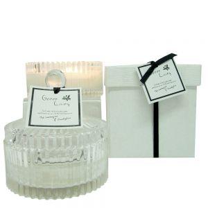 Green Living small crystal soy jar candle in box - thai lemongrass & eucalyptus